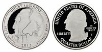 USA 25 CENTS 2013 S  GEM PROOF   MOUNT RUSHMORE