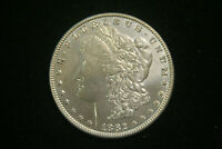 1882 MORGAN SILVER DOLLAR $ , AU TO UNC US COIN POLISHED OBVERSE, UNC REVERSE