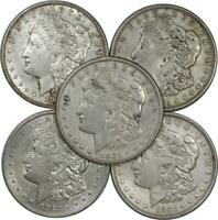 LOT OF 5: 1921 MORGAN SILVER DOLLARS BETTER CULLS  ITEM CJB014