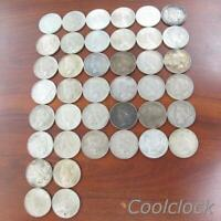 40 PC LOT PEACE SILVER ONE DOLLAR $1 COINS OLD USED CIRCULAT