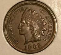 1902 INDIAN HEAD CENT  IN AU CONDITION