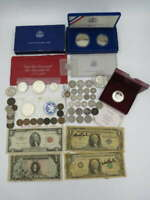 HUGE US SILVER & OLDER COIN & CURRENCY LOT SILVER LIBERTY WA