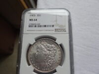 1903 NGC CERTIFIED MINT STATE 64 MORGAN SILVER DOLLAR