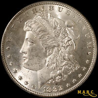 1882 MINT STATE 65 PCGS 1$ MORGAN DOLLAR, BRIGHT AND LUSTROUS BEAUTY SHIPS FREE, MARC