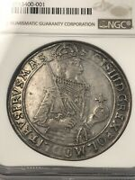 1632 II POLAND TALER NGC AU DETAILS CLEANED  SILVER COIN