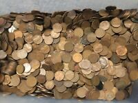 10 POUNDS OF WHEAT PENNIES 1,500 PENNIES VARIOUS YEARS FROM 1910 TO 1958 PDS