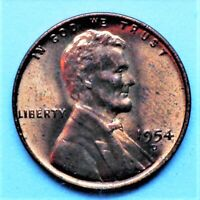 1954 S LINCOLN WHEAT CENT 3 PENNIES  SHIPPED WITH USPS FIRST CLASS