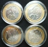 COMMONWEALTH GAMES 2002 2 COINS FULL SET ENGLAND WALES SCOTL