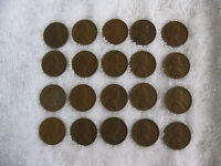 20 LINCOLN/WHEAT US PENNIES FROM 1940'S & 1950'S