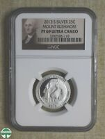 2013 S ATB QUARTER   MOUNT RUSHMORE   SILVER   NGC CERTIFIED