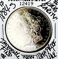 1884 S MORGAN ULTRA  DATE  STUNNING S MINT  SO SO   WOW COIN