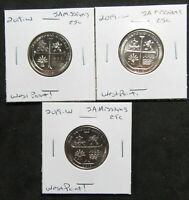 3 COIN LOT   2019 W 25C SAN ANTONIO MISSIONS TX. WEST POINT