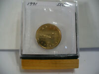 1991  CANADA  DOLLAR COIN  LOONIE TOP GRADE  SEE PHOTOS  91  PROOF LIKE  AUCTION