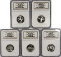 1999 S SILVER STATE QUARTER SET ALL NGC PF69 ULTRA CAMEO CJA