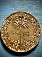 BRITISH WEST AFRICA TWO SHILLING 1938.