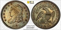 1834 H10C CAPPED BUST HALF DIME PCGS MINT STATE 64 PQ TONING
