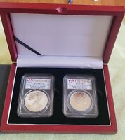 2019 RCM PRIDE OF TWO NATIONS 2 COIN SET PCGS PR70  FS  ROYAL CANADIAN MINT