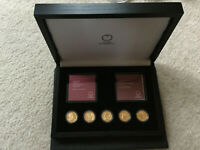 AUSTRIA GUSTAV KLIMT AND HIS WOMEN 5 GOLD COINS W/ WOODEN CASE 2012 2016