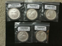 5X 2 OZ SILVER ROUNDS DESTINY KNIGHT   THE RAVEN   IN CAPSULES  FIRST RELEASE