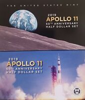 2019 APOLLO 11 50TH ANNIVERSARY 2 COIN SET WITH ENHANCED REVERSE PROOF KENNEDY
