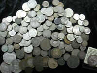 124 ASSORTED OLD WORLD FOREIGN USA SILVER COIN LOT 16.99 OZT
