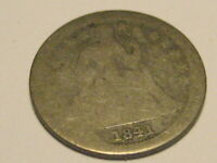 1841-O SEATED LIBERTY DIME AG BETTER DATE