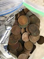 1910-1919 P-D-S BAG OF WHEAT CENT'S ALL TEENS CULLS 10 ROLLS 500 COINS2
