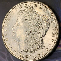 1887-S VAM 2A MORGAN SILVER $1 CHOICE MS CONDITION BRILLIANT MINT LUSTER