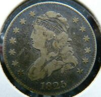 1825/2 CAPPED BUST QUARTER   BROWNING 3 R3   SCRATCHES