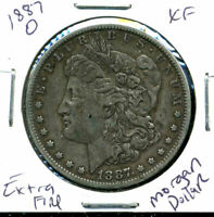 1887 O EXTRA FINE  MORGAN DOLLAR EXTRA FINE 90 US SILVER COIN  OLD $1 AUCTION CC255