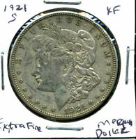 1921 S EXTRA FINE  MORGAN DOLLAR EXTRA FINE 90 US SILVER COIN  OLD $1 AUCTION CC321