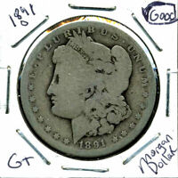 1891 O G MORGAN DOLLAR GOOD 90SILVER COIN U.S BETTER DATE OLD $1 AUCTION CC360