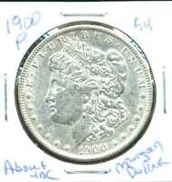 1900 P AU MORGAN DOLLAR ABOUT UNCIRCULATED 90SILVER COIN OLD $1 AUCTION CCW276