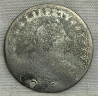1796 DRAPED BUST DIME 10 HOLED PLUGGED PITTED POOR DETAILS