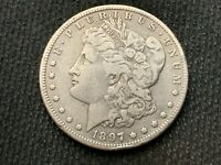 1897-S  MORGAN DOLLAR   VF EXTRA FINE        3 OR MORE  FREE S/H      90 SILVER   A780