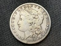 1884-S   MORGAN DOLLAR    VF EXTRA FINE       3 OR MORE  FREE S/H      90 SILVER   A779