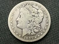 1883-S  MORGAN DOLLAR   VG F   3 OR MORE  FREE S/H      90 SILVER   A830