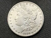 1884-S  MORGAN DOLLAR   EXTRA FINE  AU     3 OR MORE  FREE S/H      90 SILVER   A820