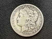 1880-S  MORGAN DOLLAR   F VF       3 OR MORE  FREE S/H      90 SILVER   A849