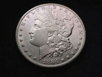 1884-S MORGAN DOLLAR EXTRAORDINARY PROOF LIKE KEY DATE COIN    455