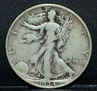 1934-D WALKING LIBERTY HALF DOLLAR  FINE F  50C  NOW P26 SILVER TRUSTED