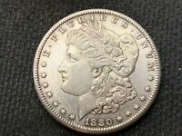 1880-S   MORGAN DOLLAR   AU UNC      3 OR MORE  FREE S/H      90 SILVER   A966