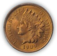 1909 1C INDIAN CENT - TYPE 3 BRONZE PCGS MINT STATE 66RD CAC 3097-1 PQ