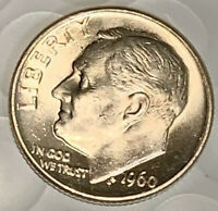 1960-D ROOSEVELT DIME , BU UNCIRCULATED , 90 SILVER US COIN