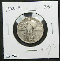 1926-S 25C STANDING LIBERTY QUARTER. CIRCULATED. S-MINT ISSUE. 1119402