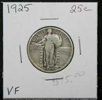 1925 25C STANDING LIBERTY QUARTER. CIRCULATED.  DETAIL. 1119285