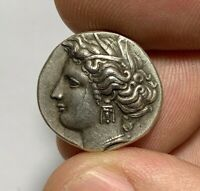 ANCIENT GREEK COIN SILVER STATER UNCERTAIN  8.2GR 21.8MM