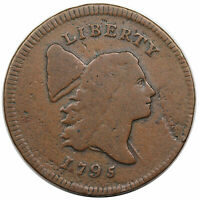 1795 LIBERTY CAP HALF CENT LETTERED EDGE C 1 R2 NICE VG F