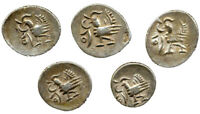 CAMBODIA LOT OF 5 PCS 1/8 TICAL  1847  AR UNIFACE  A