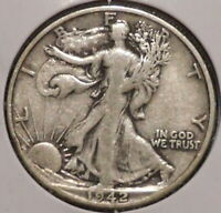 WALKING LIBERTY HALF - 1942-S - OVERSTOCK SALE - $1 UNLIMITED SHIPPING-431